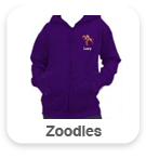 Zoodies with large back design & text