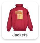 Jackets with large back design & text