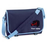 'Messenger Bag French Navy with Sky trim (example small Magic design)