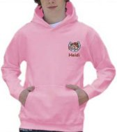 *Small left breast design and text - Hoodie (example Cracker design)
