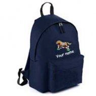 Backpack Navy (example small Toffee design)