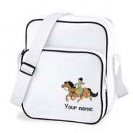 Retro Bag White (example large Woody design