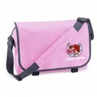 'Messenger Bag Pink (example small cracker design)