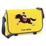 'Messenger Bag Yellow (example large Leo design)