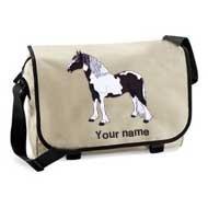 'Messenger Bag Sand (example large Domino design)