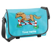 'Messenger Bag Surf Blue (example large Toffee design)