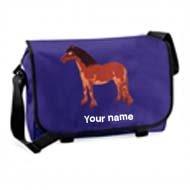 'Messenger Bag Purple (example large Farlie design)