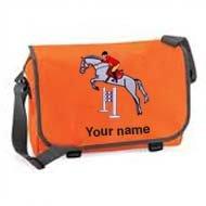 'Messenger Bag Orange (example large Bertie design)