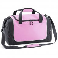 Holdall with Name & Design - (Pink/Grey/White)