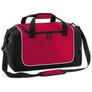Holdall with Design & Name - Red/Black/White