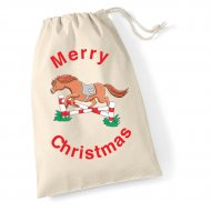 Extra Large Drawstring Cotton Bag (example Toffee embroidery)